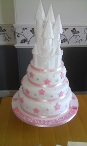 3 tier fairy princess castle christening cake - quote christening 21
