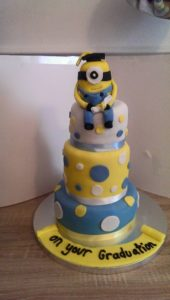Minion Graduation Cake - Quote Celebration 413