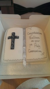 Bible cake for First Communion quote christening 27