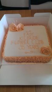 Celebration cake with hand made sugar roses