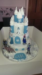 3-Tier Frozen cake - quote cake 168