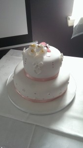 2 Tier Sara Cake - quote Sara cake