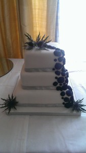 Thistle & Flowers cake - quote thistle and flowers