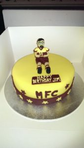 Motherwell Football Cake - quote celebration 378