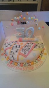 Bingo Cake - quote celebration 373