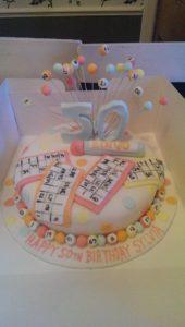 Bingo Cake - quote celebration 373