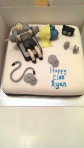 Gym Birthday Cake - Quote Celebration 454