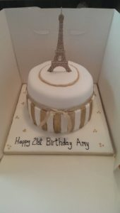 Paris 21st Birthday Cake - Quote Celebration 455