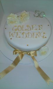 Golden Wedding Cake - quote celebration 222