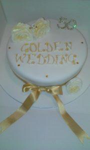 Golden Wedding Cake - quote celebration 222