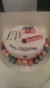 50th Bingo Birthday Cake - Quote Celebration 462