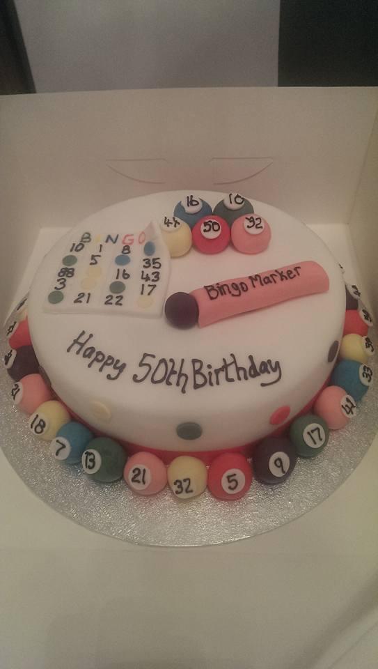 50th Bingo Birthday Cake