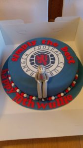 70th Rangers Birthday Cake - quote celebration 477