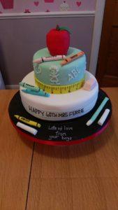 Teacher's cake - quote celebration 483