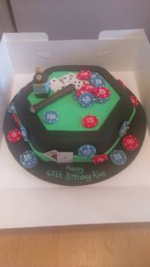 Casino cake - quote celebration 487