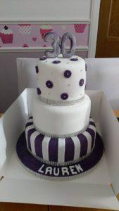 Three tier celebration cake - quote celebration 502