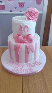 Two tier birthday cake - quote celebration 504