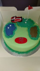 Golf celebration cake - quote celebration 508