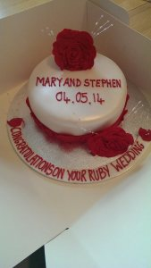 Ruby Wedding Cake Quote Celebration 284