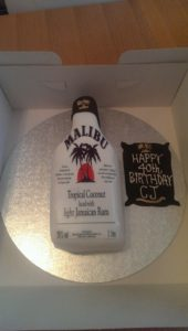 Malibu Bottle Cake - quote celebration 340