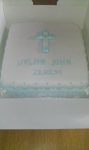 Cross cake suitable for 1st communion - quote christening 25