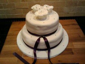2-Tier Rose cake - quote Celebration 31
