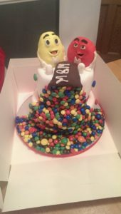Two-tier M&M's cake - Quote Celebration 466