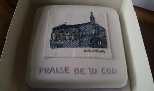 Kirk 'O Shotts cake quote celebration 43