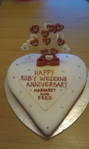 Any Occasion Love Heart cake - quote celebration 80