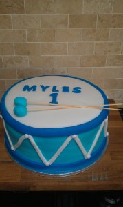 Drum 2 tier cake quote cake 45