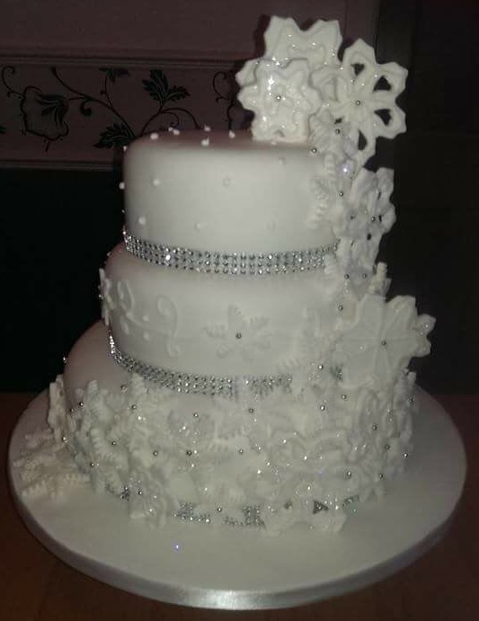 Glitter Snowflakecakes By Fiona Bird Cakes By Fiona Bird